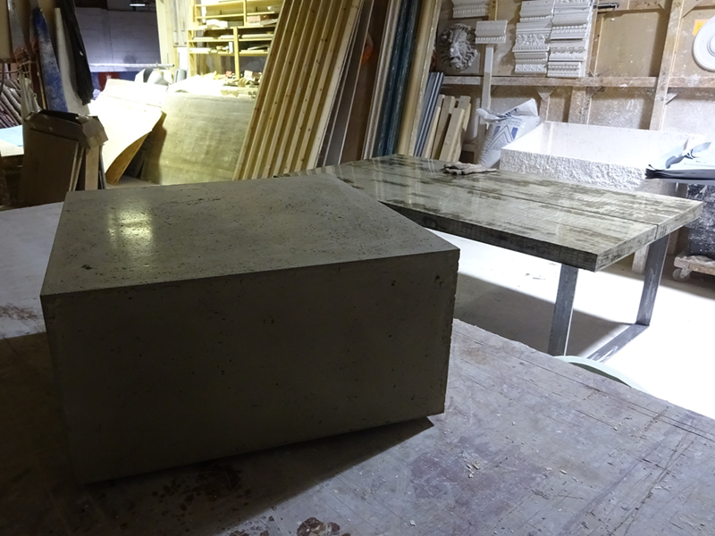 Floating Box Concrete Coffee Table