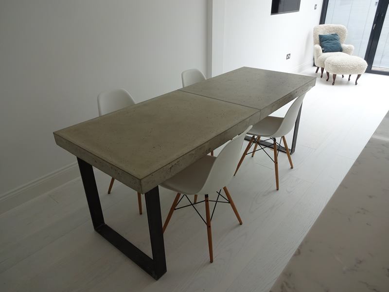 Concrete Dining Table H amp Bespoke Top Tables